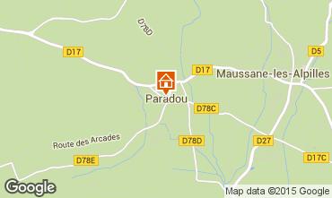 Map Maussane les Alpilles Vacation rental 97000
