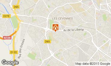 Map Montpellier Villa 76051