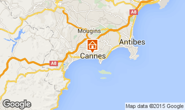 Map Cannes One-room apartment 84968