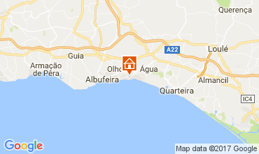 Map Albufeira Villa 109214