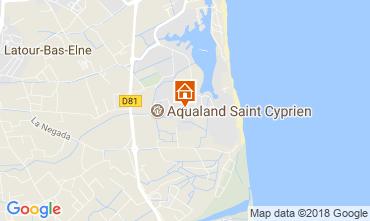 Map Saint Cyprien Plage Apartment 114305