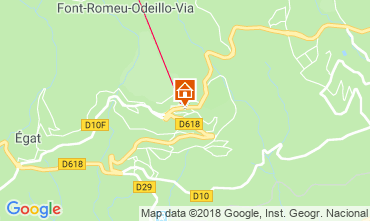 Map Font Romeu Apartment 117227