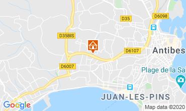 Map Juan les Pins Apartment 32363