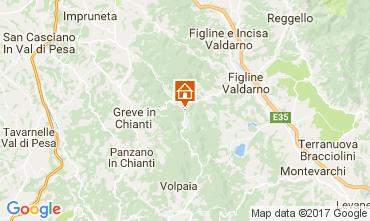 Map Greve in Chianti Apartment 32822