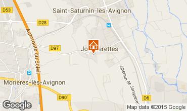 Map Avignon Vacation rental 83431