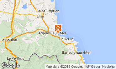 Map Argeles sur Mer Apartment 97270