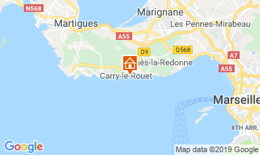 Map Carry le Rouet Apartment 119496