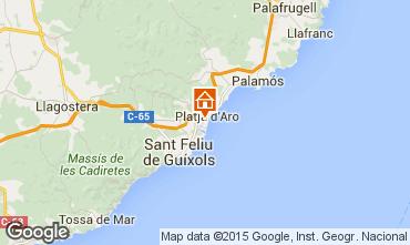Map Playa d'Aro Apartment 77393