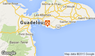 Map Gosier (Guadeloupe) One-room apartment 82219