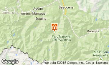Map Cauterets One-room apartment 29051