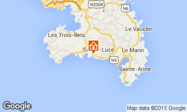 Map Sainte Luce Villa 69068