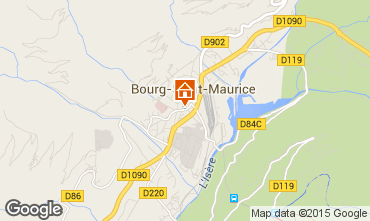 Map Bourg saint Maurice Apartment 75709