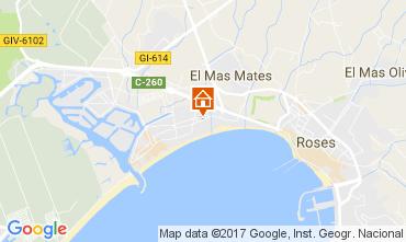 Map Rosas Apartment 77609