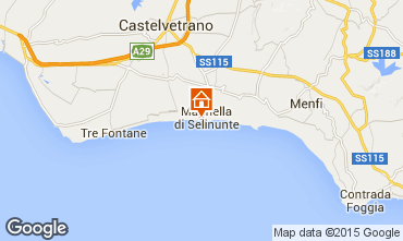 Map Castelvetrano Selinunte Apartment 62402