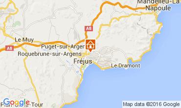 Map Fréjus Mobile home 97055