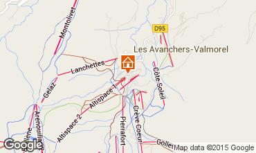 Map Valmorel Apartment 27090