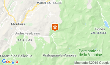 Map Champagny en Vanoise Chalet 577