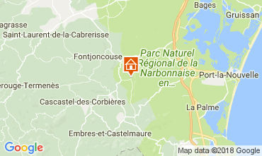 Map Narbonne Villa 80444