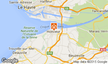 Map Honfleur Apartment 46803