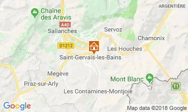 Map Saint Gervais Mont-Blanc Apartment 116920