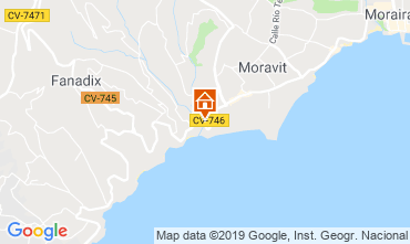 Map Moraira Villa 118191