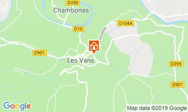 Map Les Vans Vacation rental 119245