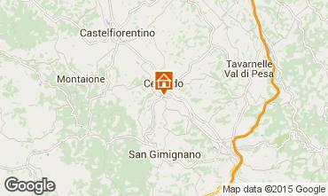 Map San Gimignano Apartment 81030