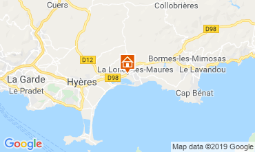 Map La Londe les Maures Vacation rental 118618