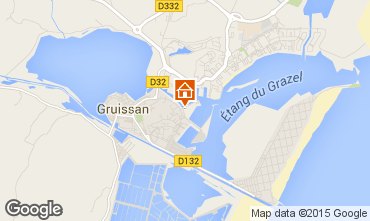 Map Gruissan One-room apartment 6299