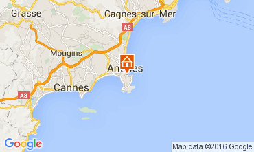 Map Antibes Apartment 105595