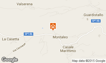 Map Casale Marittimo Apartment 58827