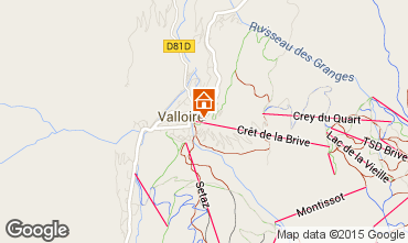 Map Valloire Apartment 63858