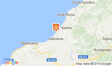 Map Badesi Villa 66042