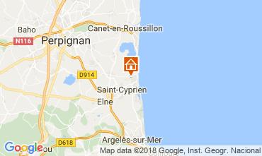 Map Saint Cyprien Plage Apartment 8713