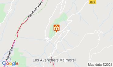 Map Valmorel Apartment 74188