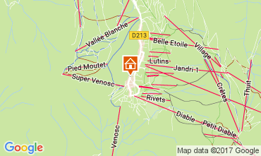 Map Les 2 Alpes Apartment 26687